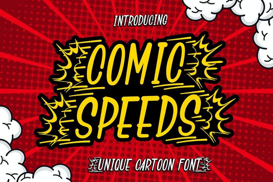 Kecepatan Komik - Font Kartun Anak