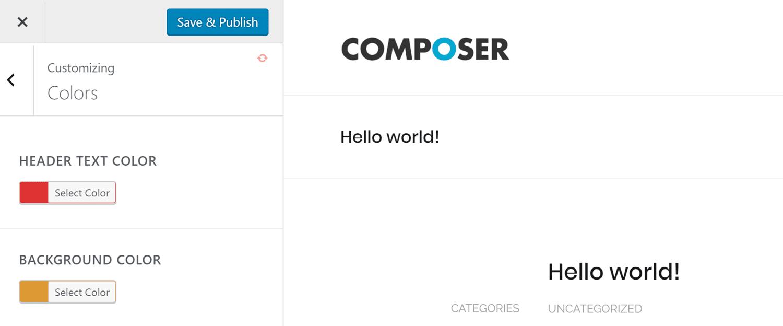 Live Composer Colors