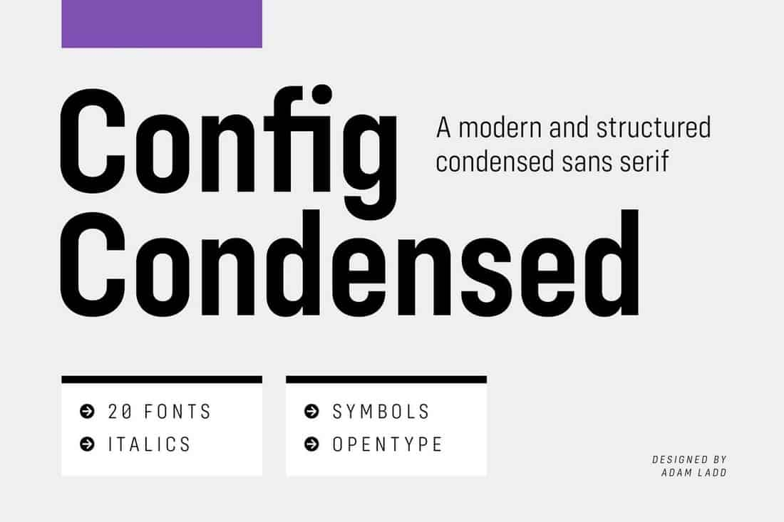 Config Condensed - Modern Font Family
