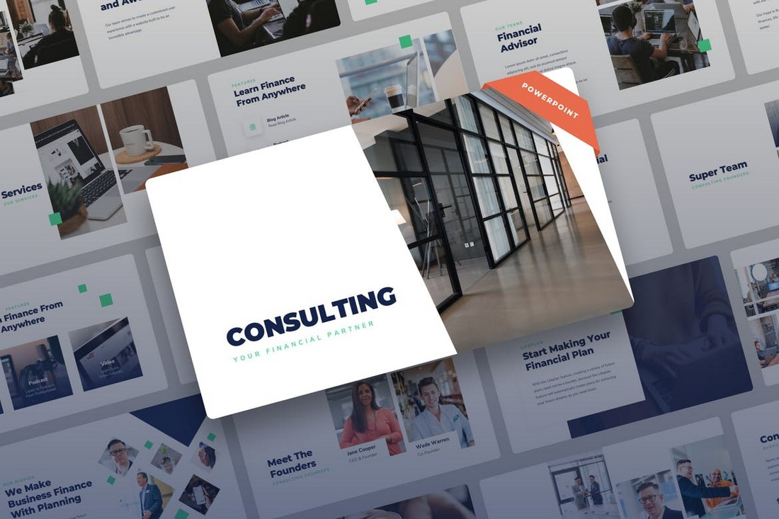 Konsultasi - Template PowerPoint Keuangan