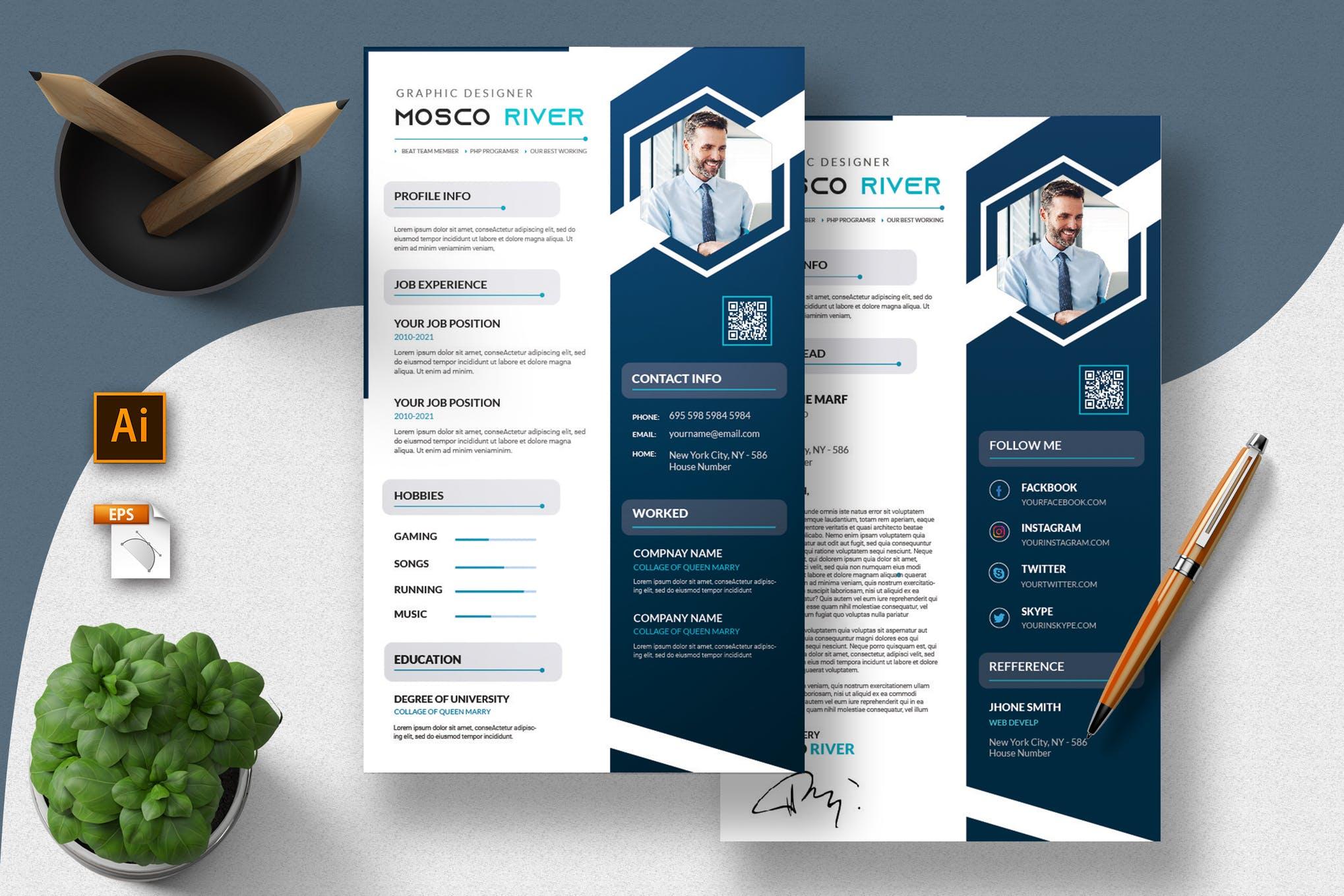 Creative Resume & CV Template