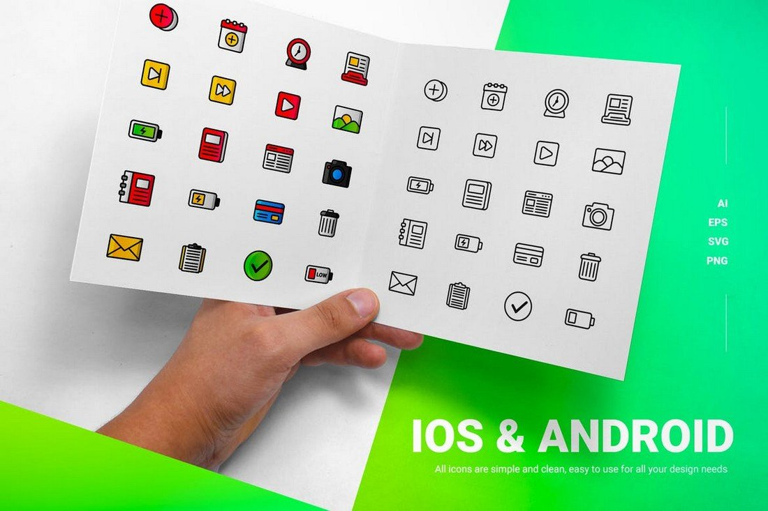 Creative iOS and Android Icons Pack