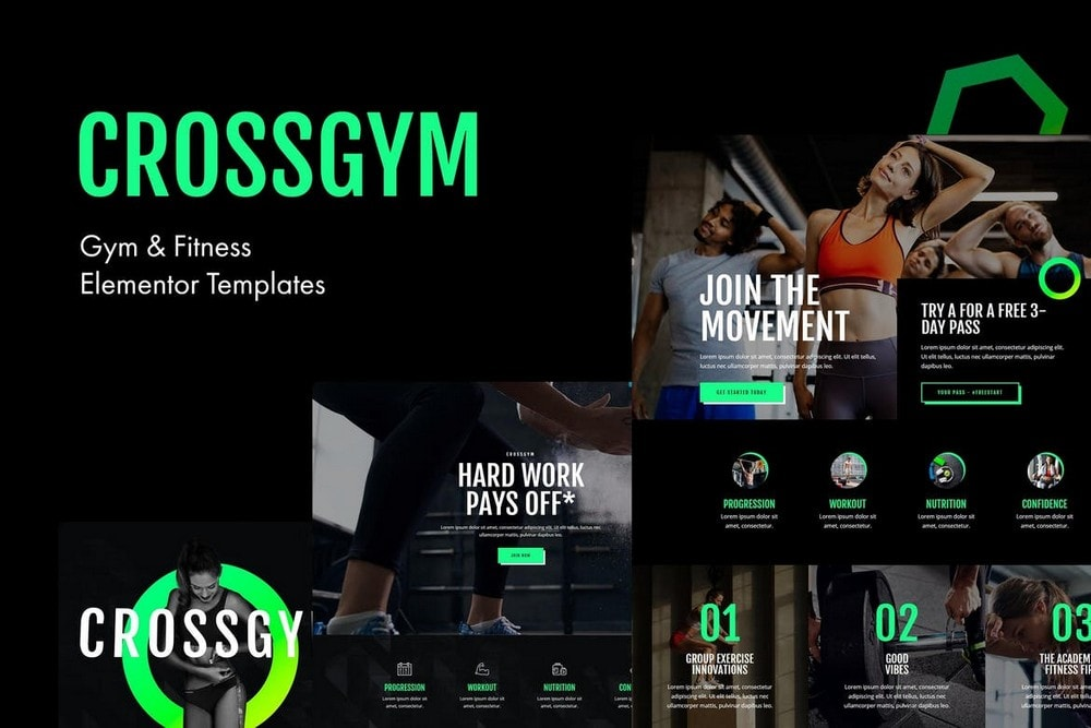 CrossGym - Gym & Fitness Elementor Template Kit