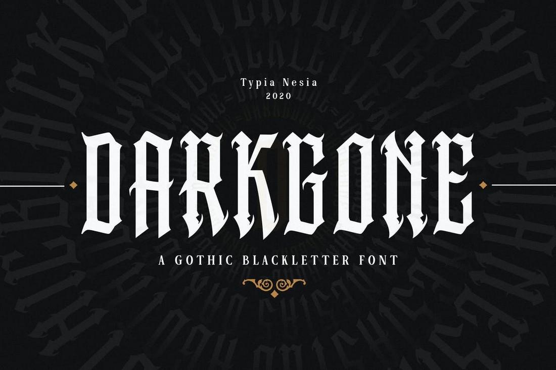 Darkgone - Font Logam Berat Gotik