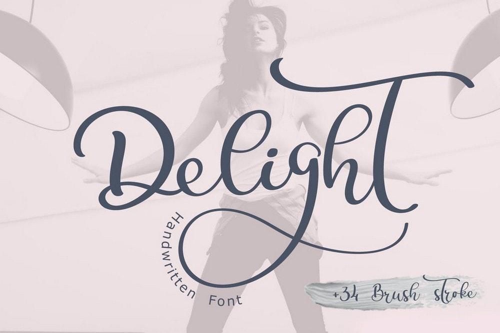 Delight - Font Pernikahan Kaligrafi
