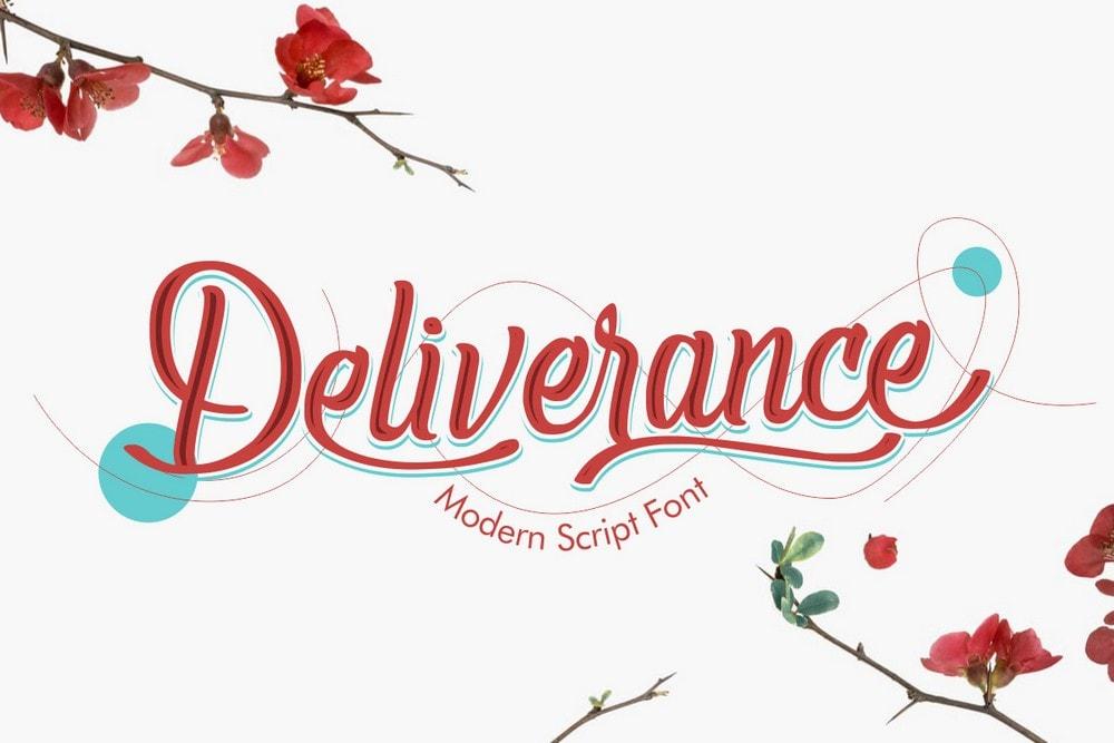 Deliverance - Free Script Handwritten Font