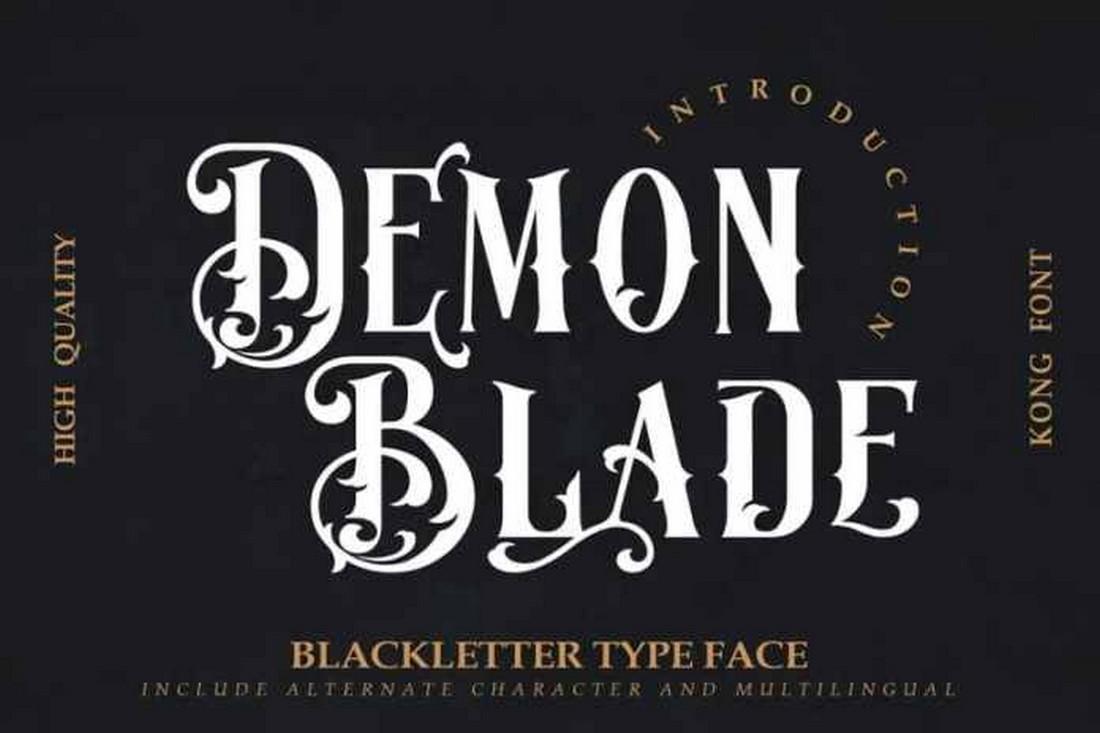 Demon Blade - Font Blackletter Metal Gratis