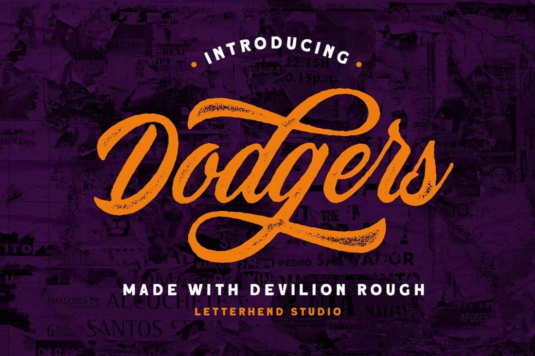Devilion Rough Baseball Font