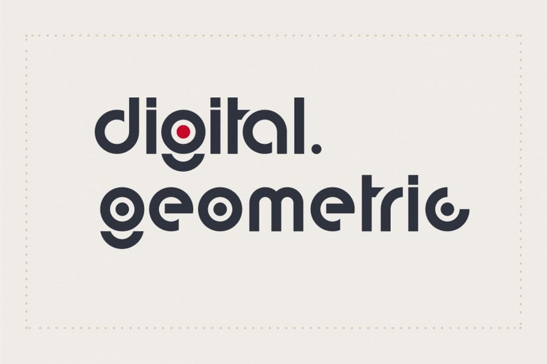 Font Modern Gratis Geometris Digital