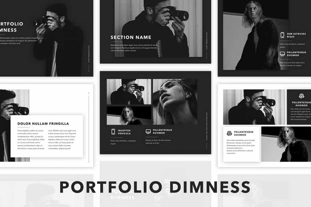 Dimness - Black and White Keynote Template
