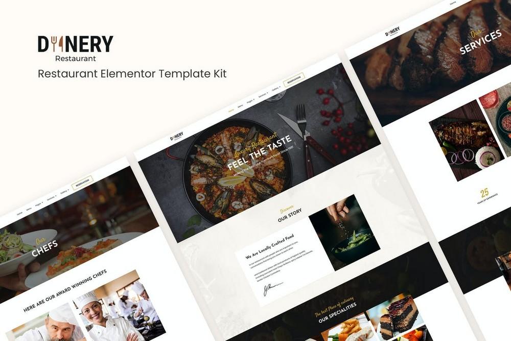 Dinery - Restaurant Elementor Template Kit
