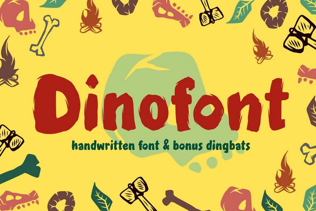 Dinofont - Font Tulisan Tangan Anak-anak