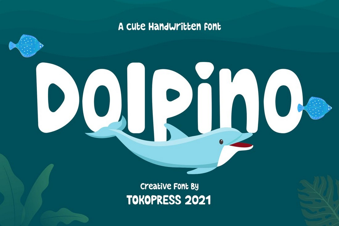 Dolpino - Font Tulisan Tangan Anak