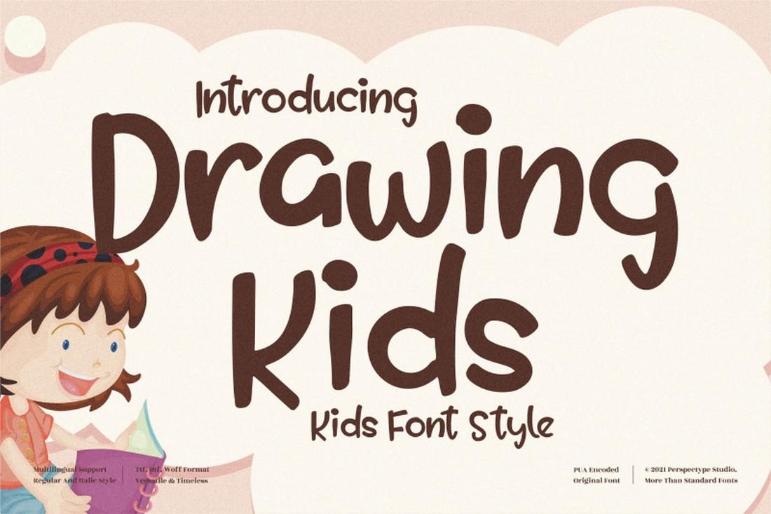 Menggambar Anak - Font Anak Gratis