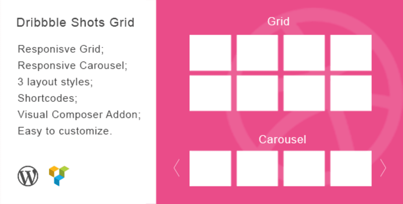 Dribbble Shorts Grid WordPress Plugin