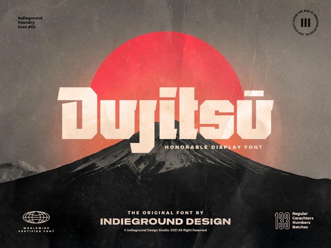Dujitsu - Font Gratis untuk Cricut