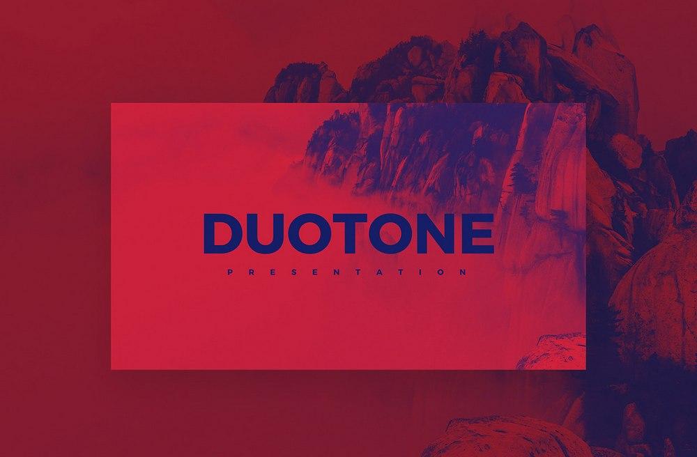 Duotone - Free Colorful Keynote Template