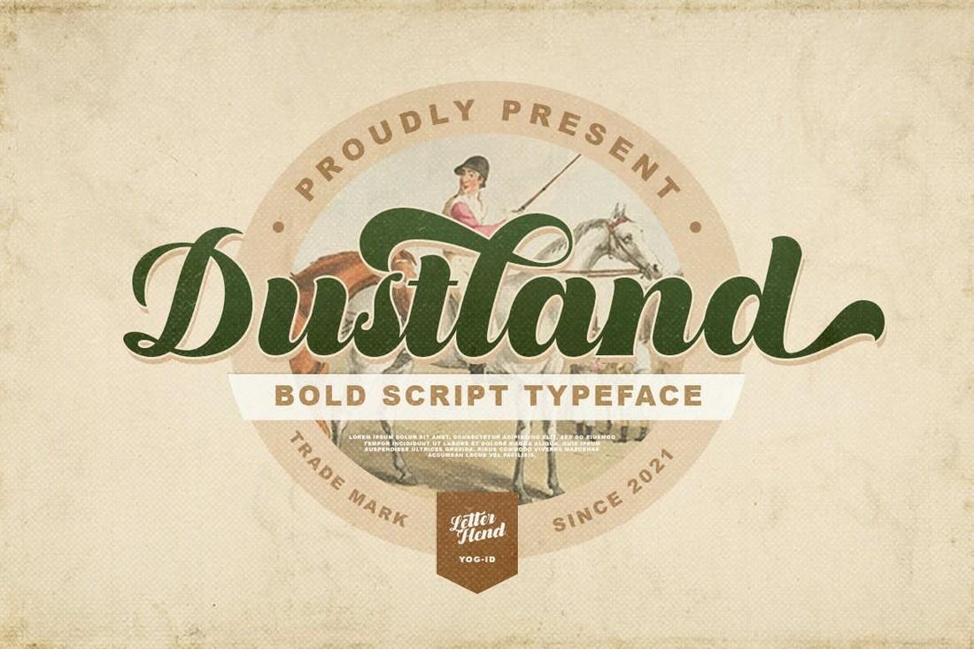 Dustland - Bold Baseball Script Typeface
