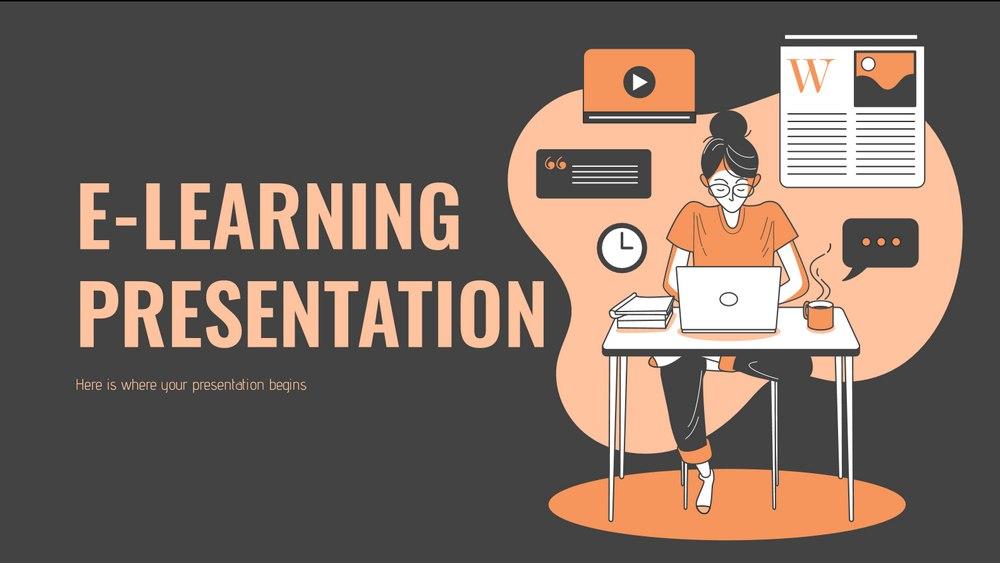 E-Learning - Free Presentation Template