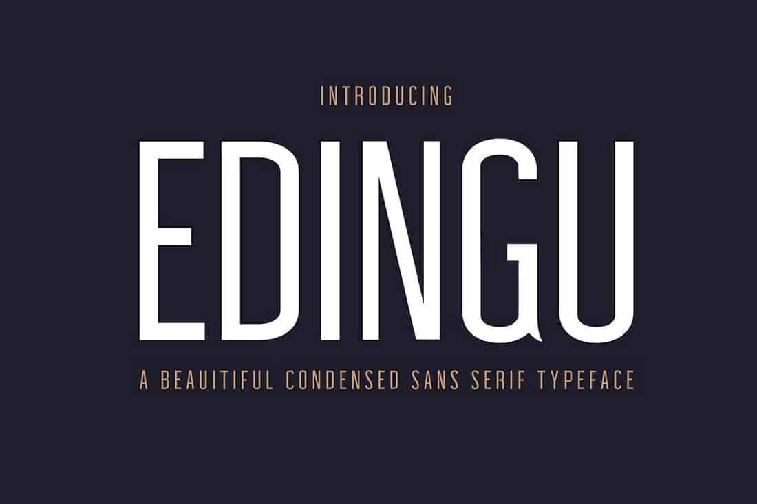Edingu - Condensed Sans Serif Font Family