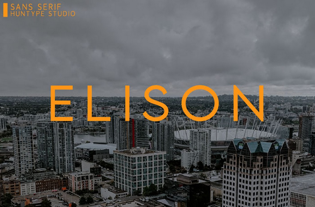 Elison - Font Geometris Sans Gratis