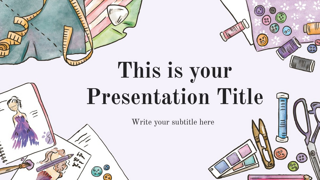 Elsie - Template Powerpoint Artistik Gratis