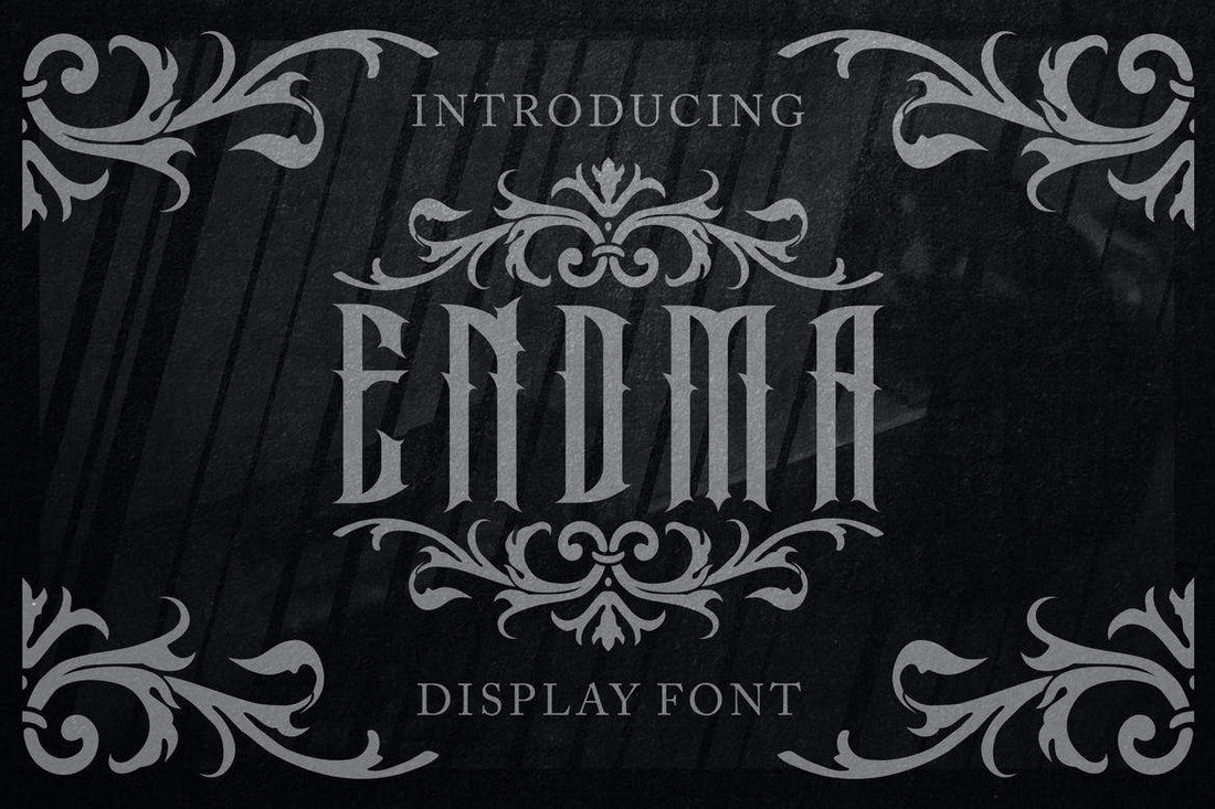 Endma - Font Logam Berat Gotik