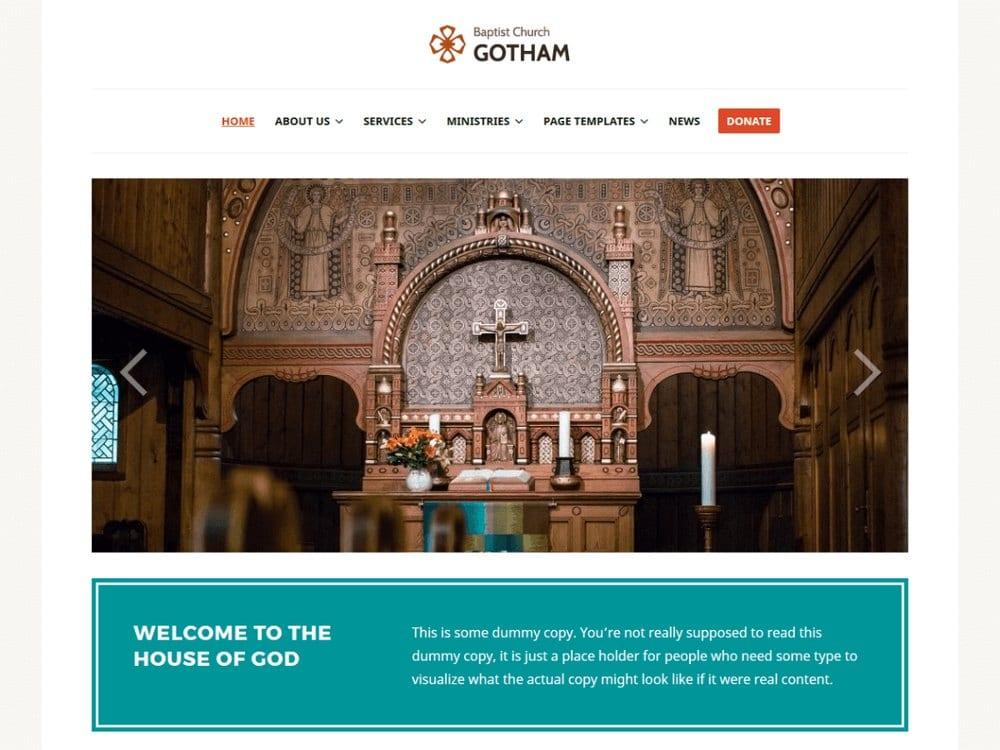 Endurance - Free Church WordPress Theme