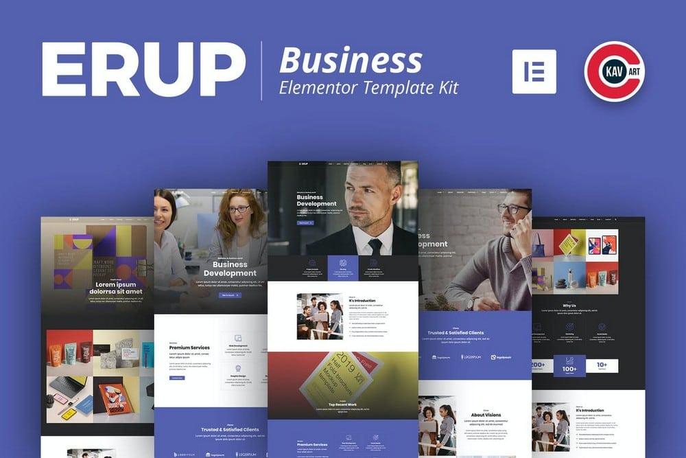 Erup - Business Website Template Kit