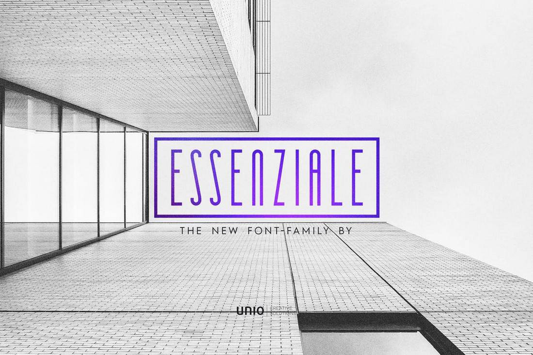Essenziale - Unique Narrow Font Family