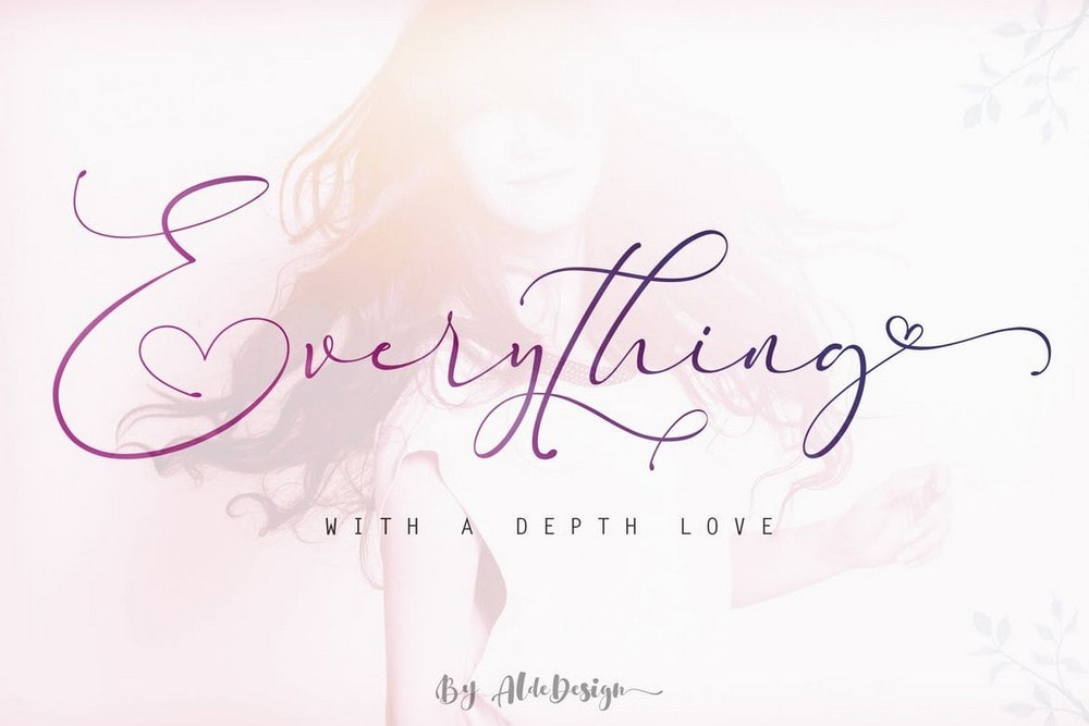 Everything - Calligraphy Wedding Font
