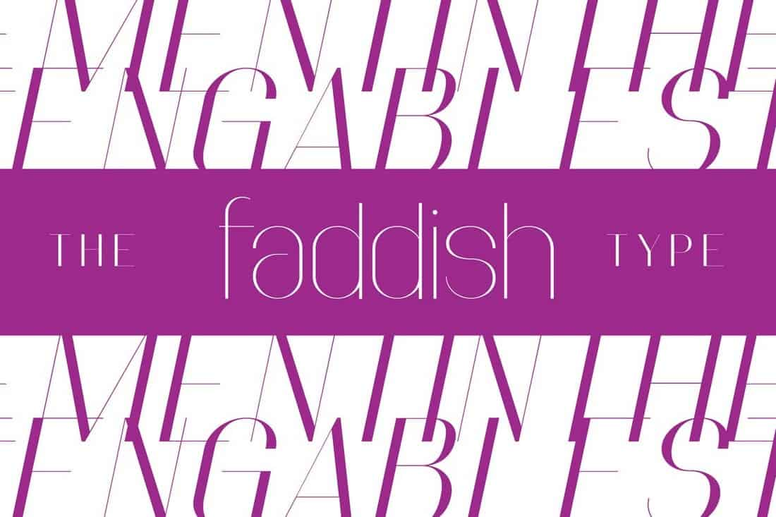 Faddish - Elegant Slim Font