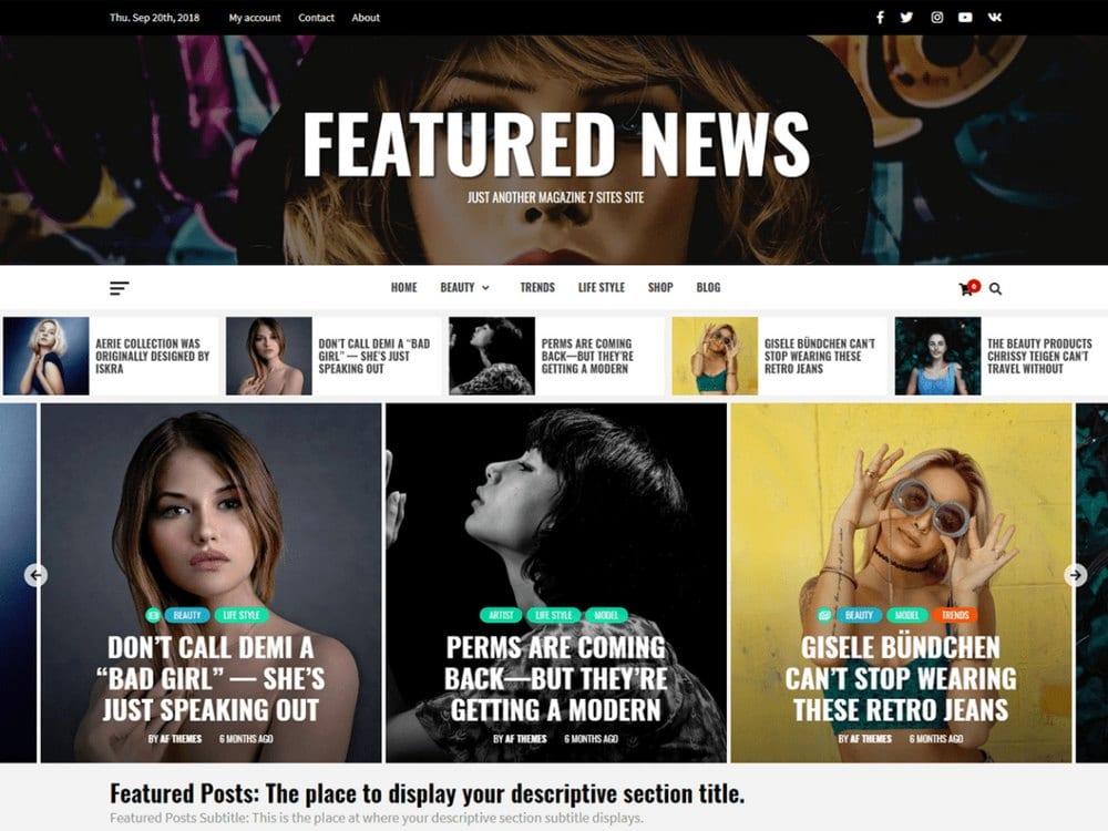 Featured News-free-wordpress-theme