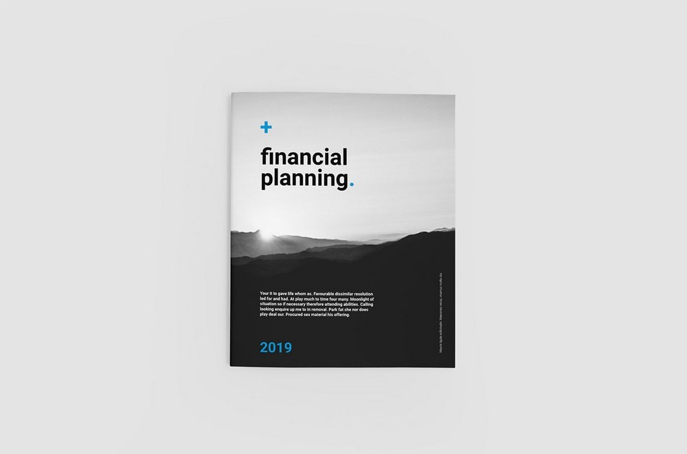 Financial Planning Free Brochure Template