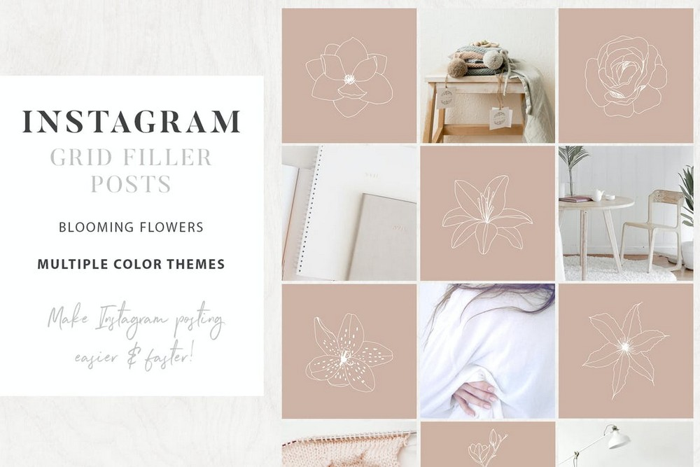 Floral - Instagram Grid Post Template