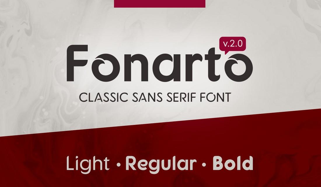 Fonarto - Free Creative Business Card Font