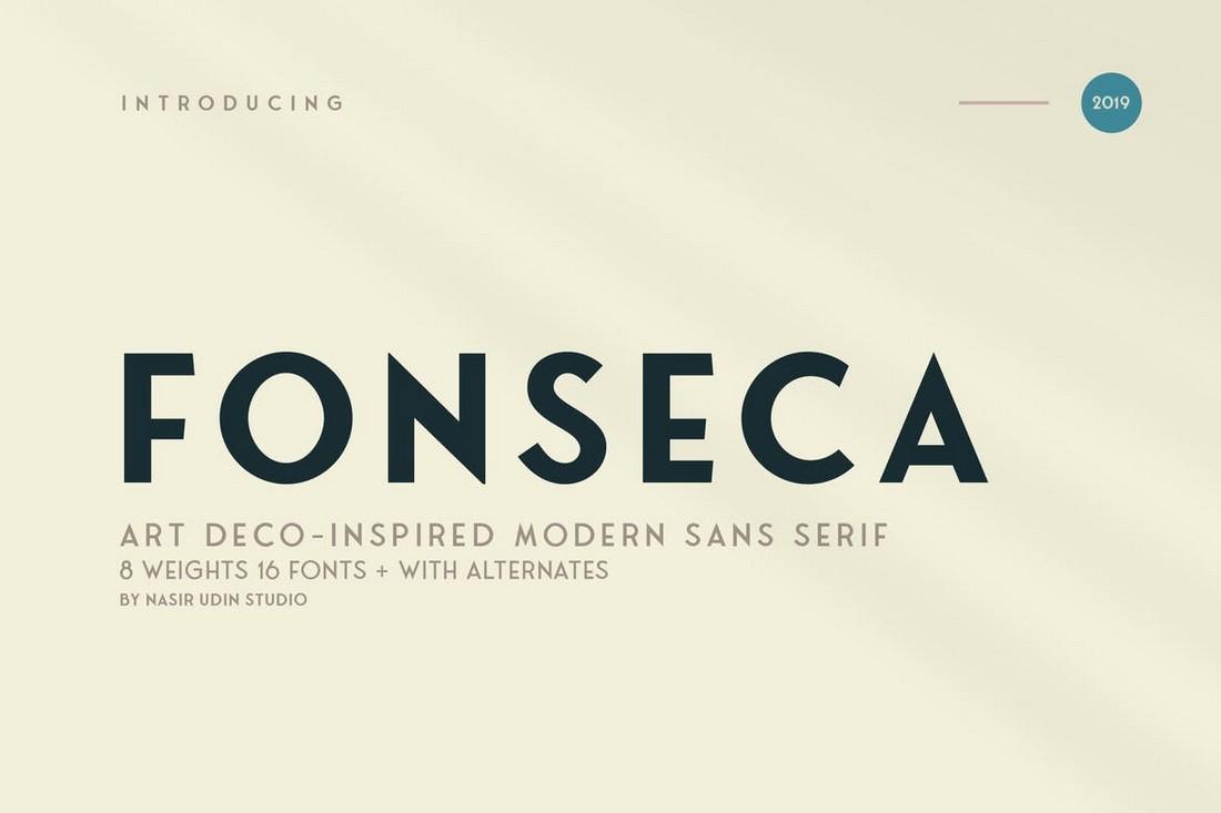 Fonseca - Keluarga Font Art Deco