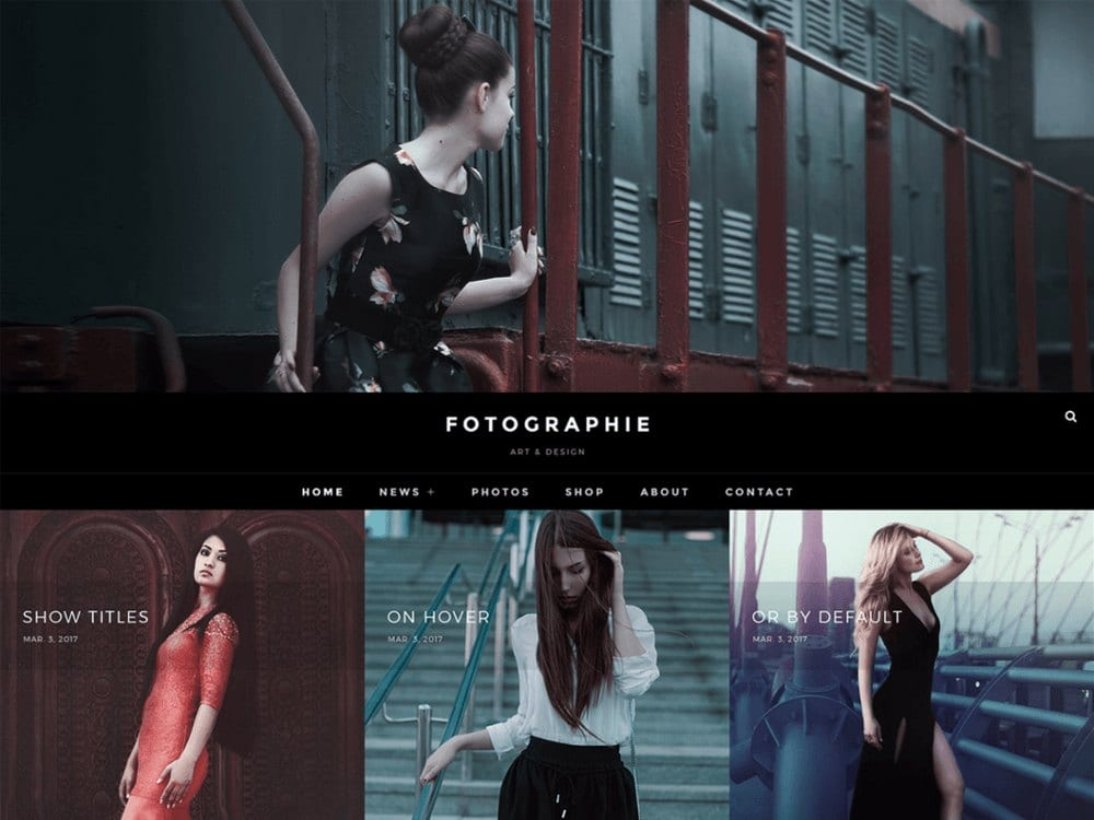 Fotografie - Tema Fotografi WordPress Gratis