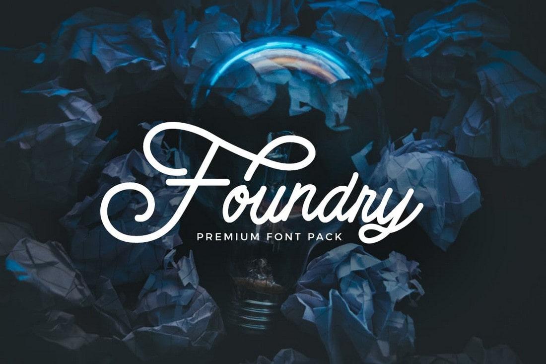 Foundry - Cursive Script Font Pack