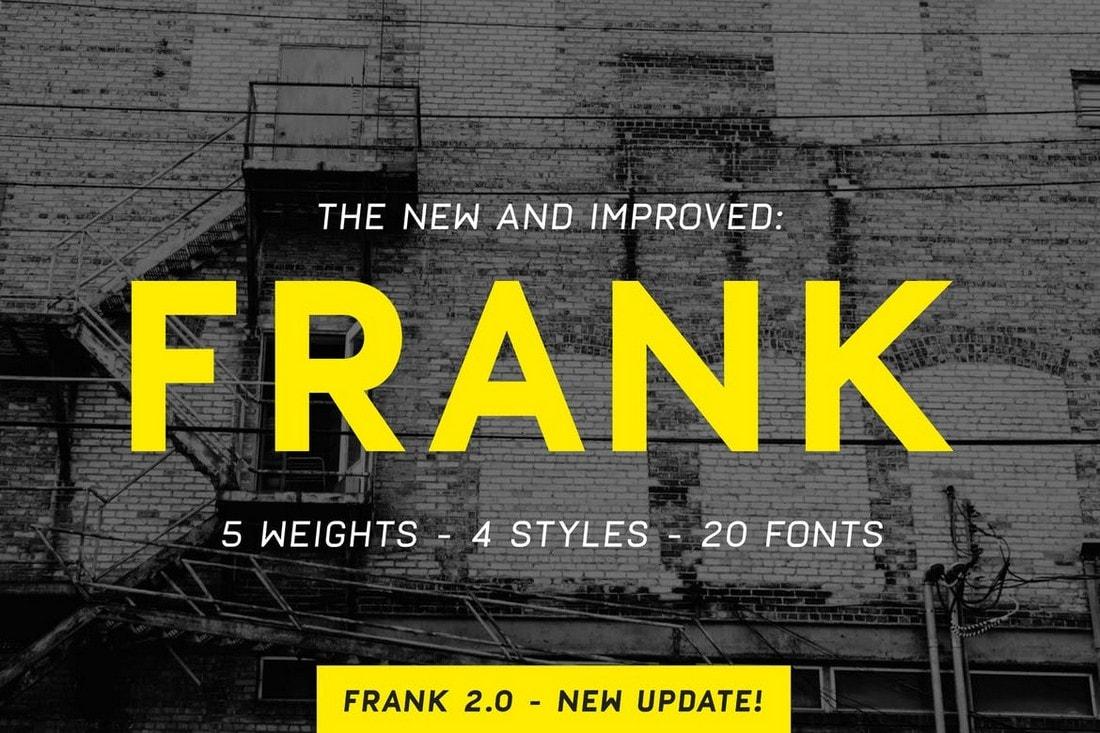 Frank - Poster & Flyer Font Family