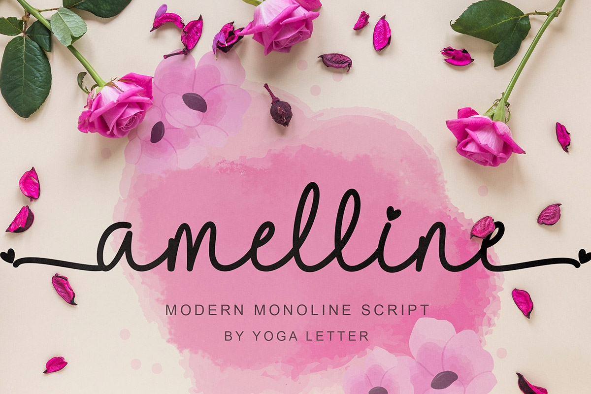 Free Amelline Calligraphy Font