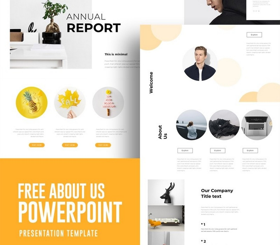 Free Annual Report Powerpoint Template