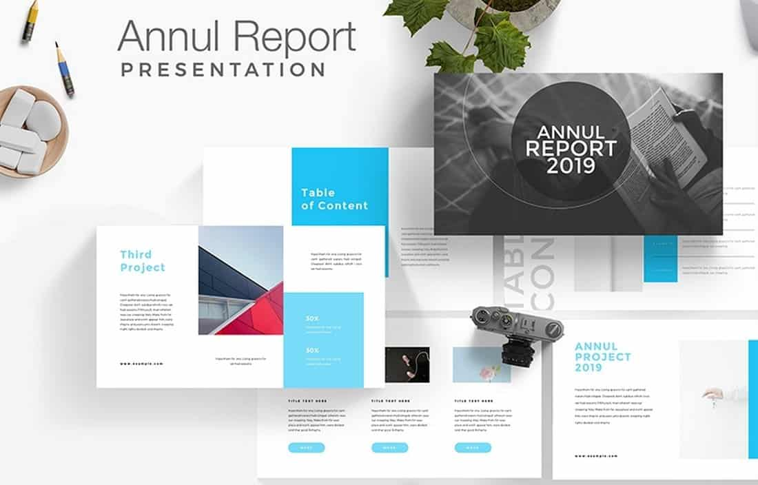 Free Annul Report Presentation Template