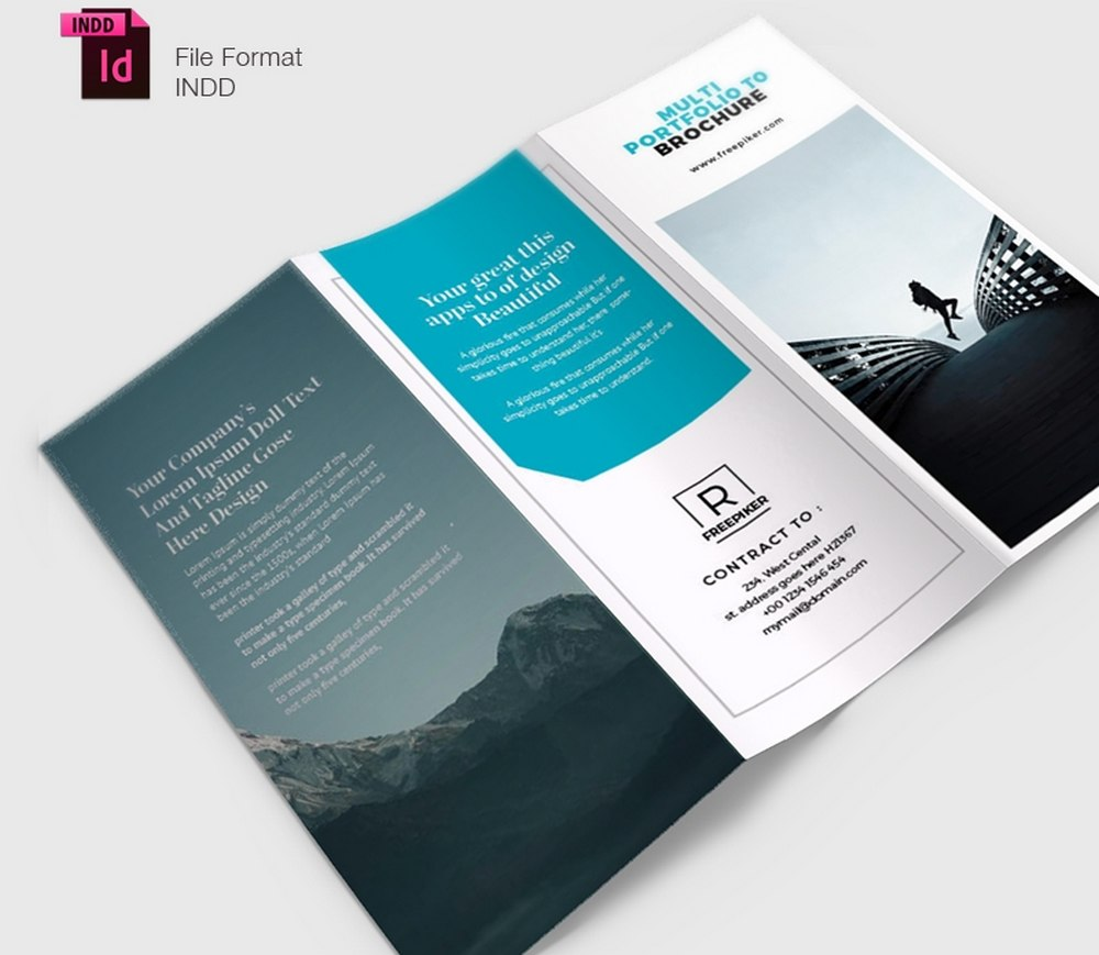 Free Clean Business Trifold Brochure