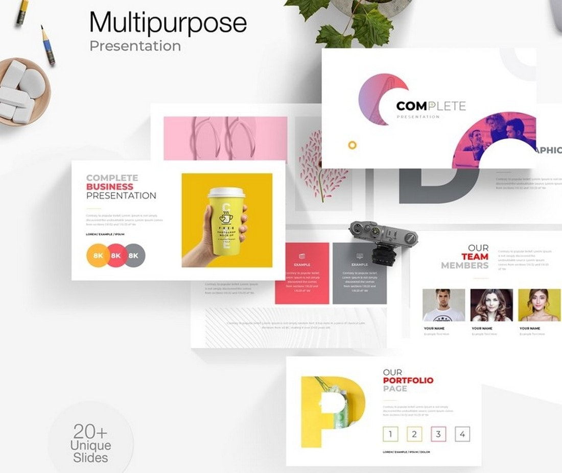 Free Colorful Multipurpose PowerPoint Template