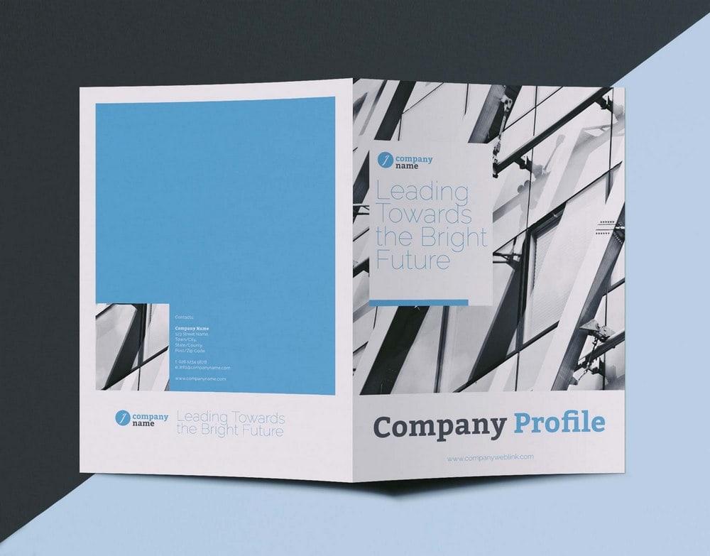 Free Company Profile BiFold Brochure Template