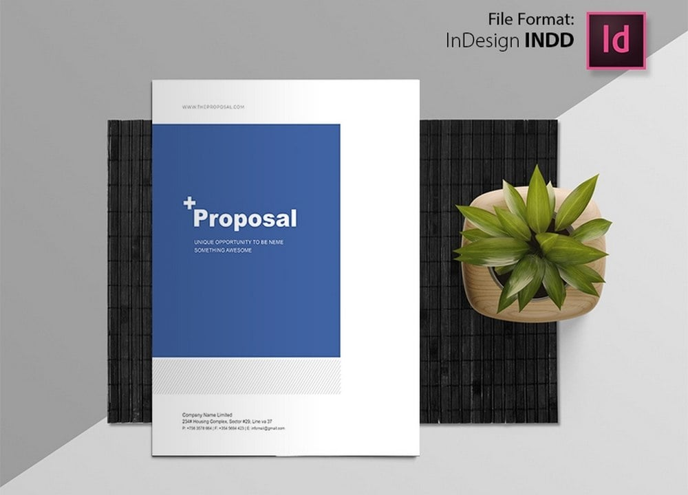 Free Creative Proposal Brochure Template