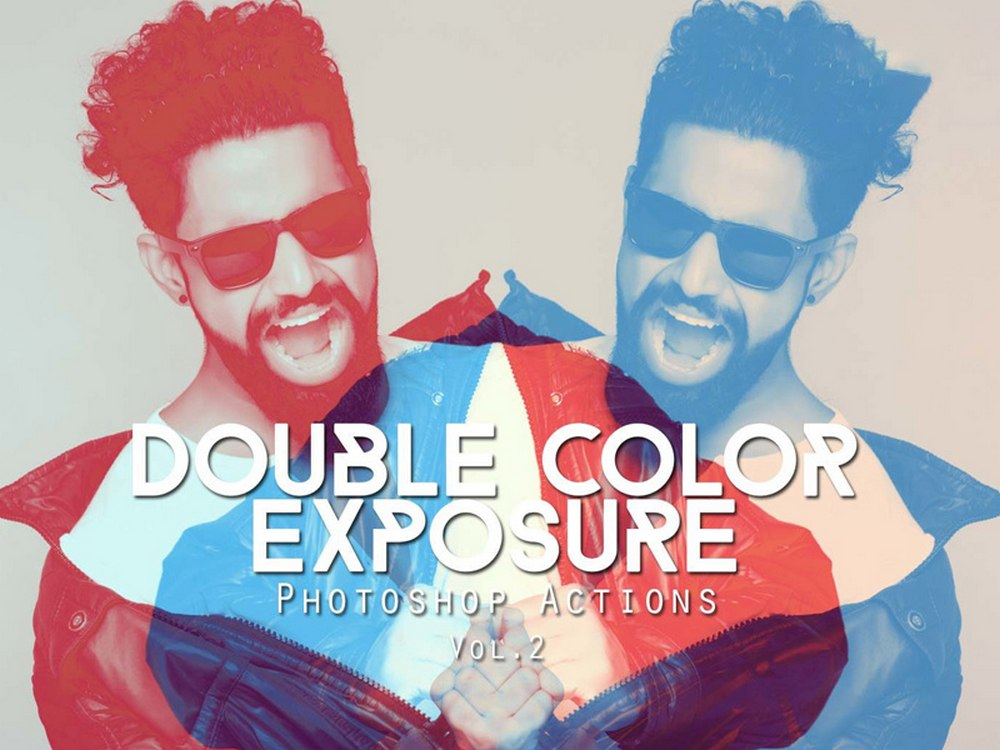 Free Double Color Exposure Photoshop Actions 2