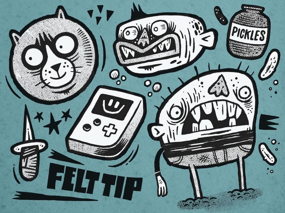 Free Felt Tip Procreate Brush