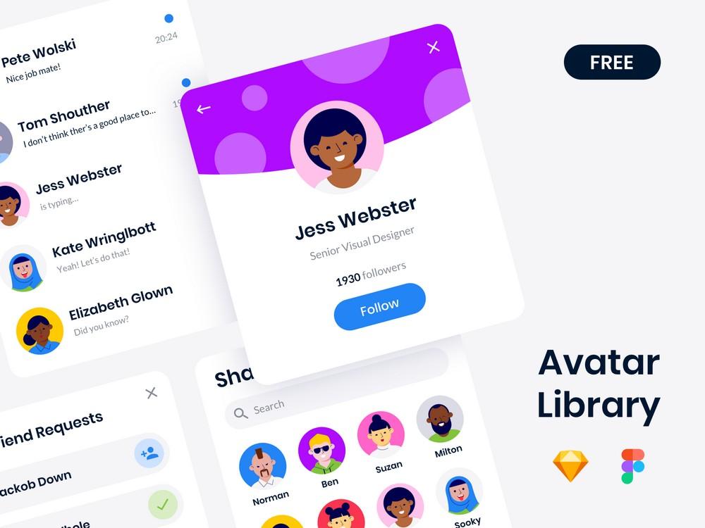Free Figma Avatar Library